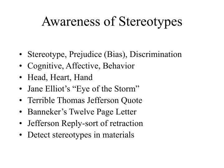 Awareness of Stereotypes