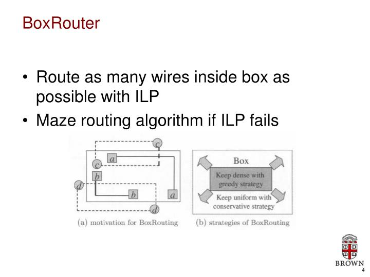 Route as many wires inside box as possible with ILP