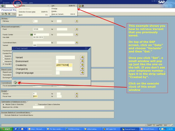 This example shows you how to retrieve Variant that you previously saved.
