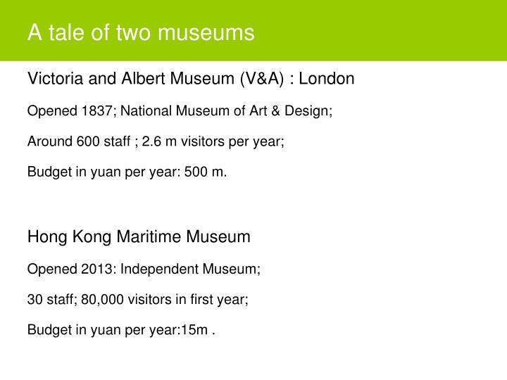 A tale of two museums