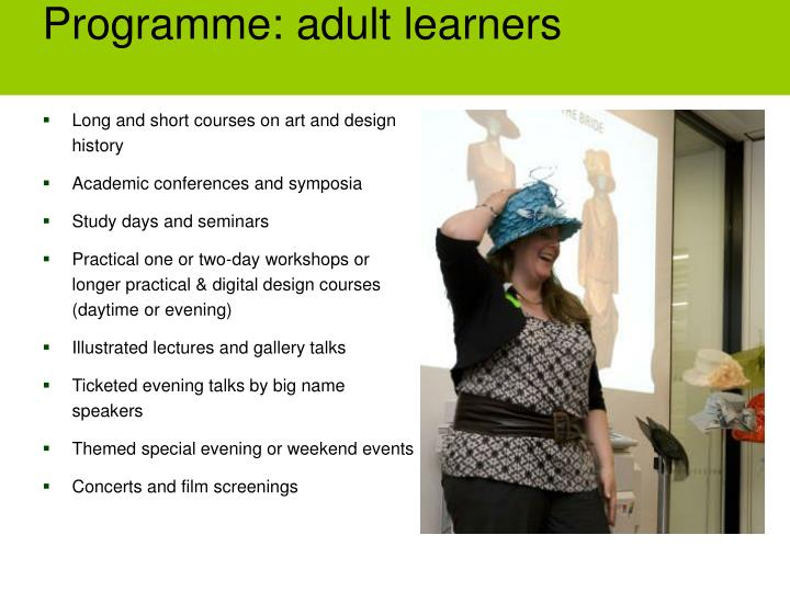 Programme: adult learners