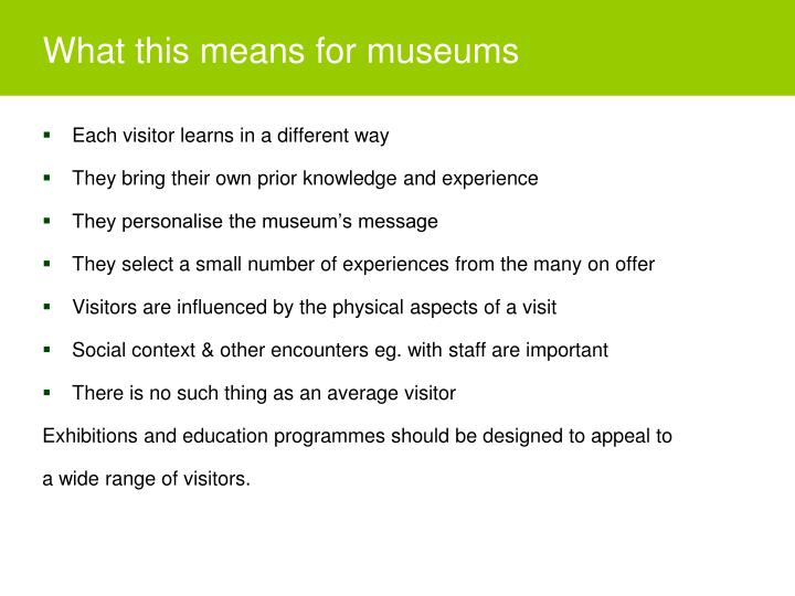 What this means for museums