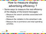 how to measure display advertising efficiency