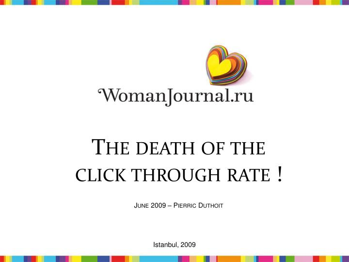 The death of the click