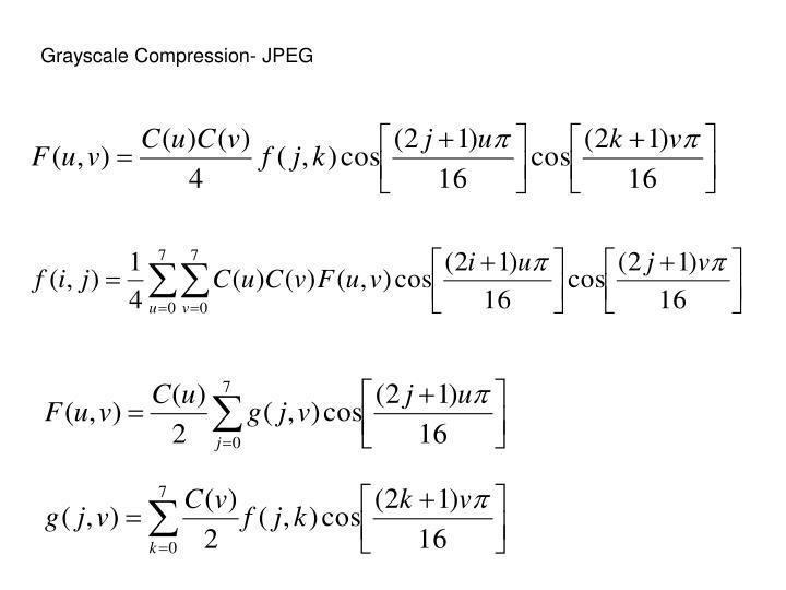 Grayscale Compression- JPEG