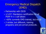emergency medical dispatch emd