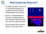 what creates the reservoir
