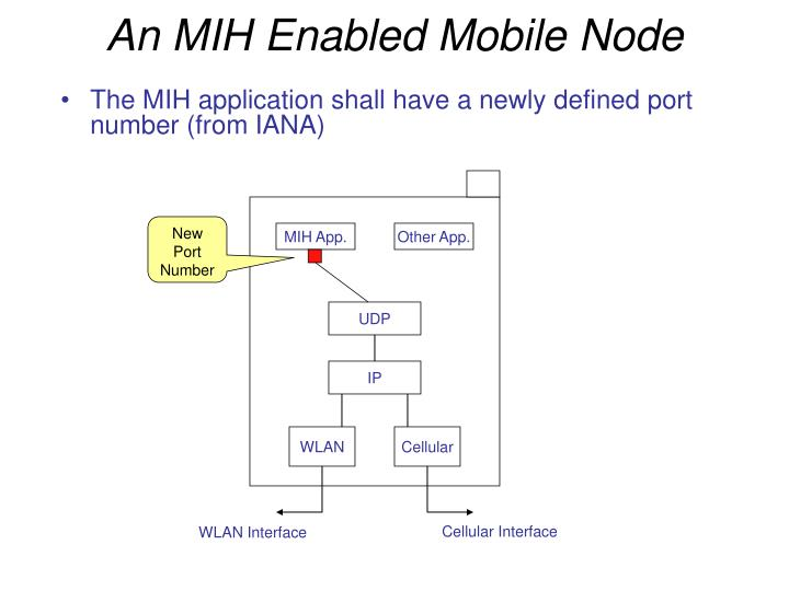 An MIH Enabled Mobile Node