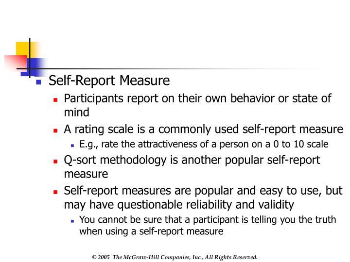 Self-Report Measure