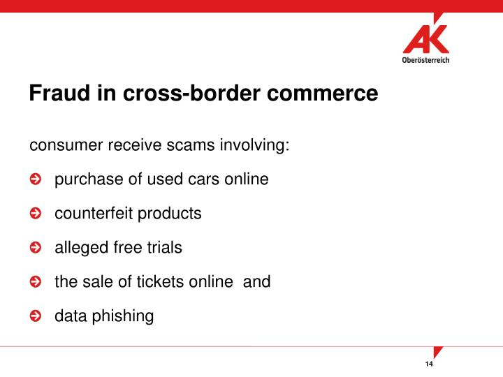 Fraud in cross-border commerce