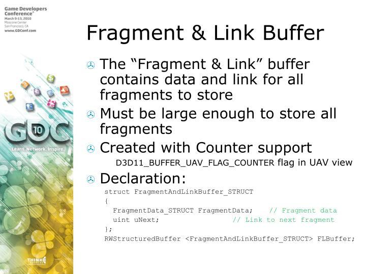 Fragment & Link Buffer