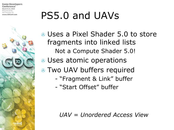 PS5.0 and UAVs