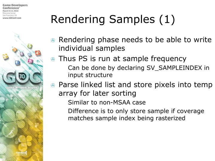 Rendering Samples (1)