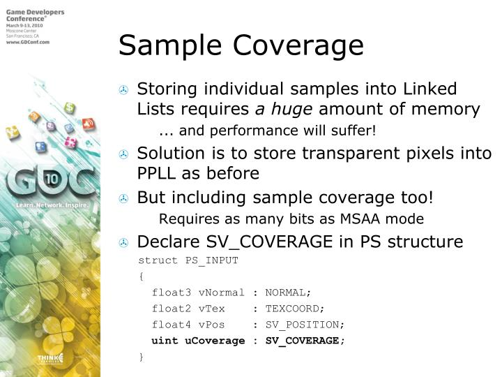 Sample Coverage