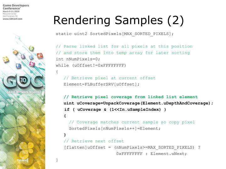Rendering Samples (2)