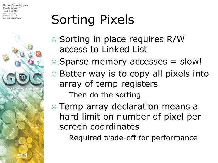 Sorting Pixels