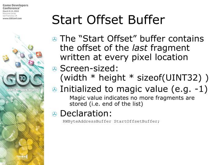 Start Offset Buffer