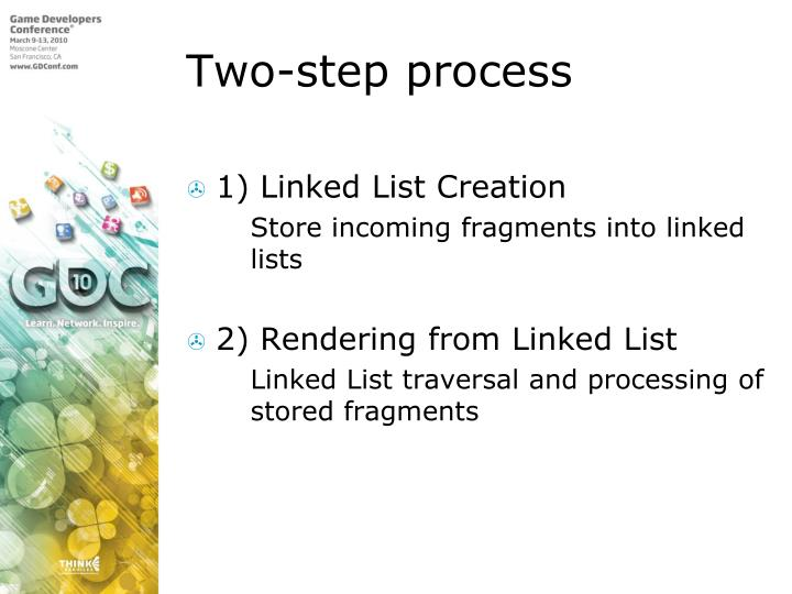 Two-step process