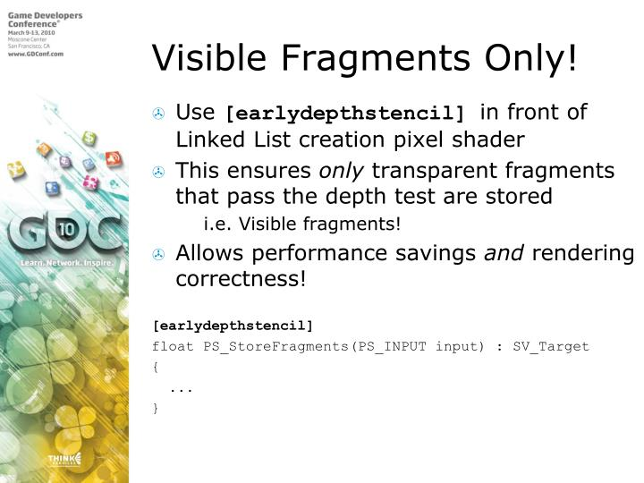 Visible Fragments Only!