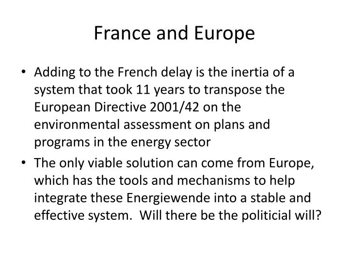 France and Europe