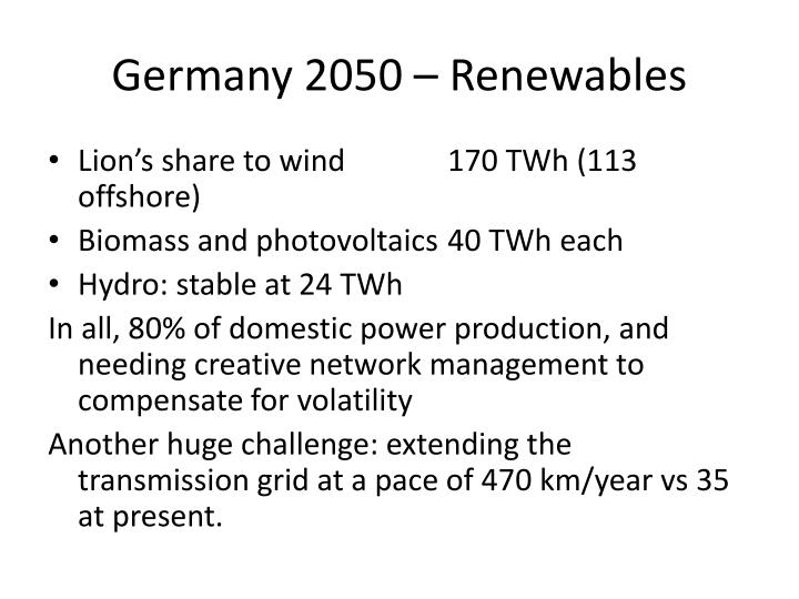 Germany 2050 – Renewables