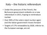 italy the historic referendum