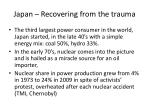 japan recovering from the trauma