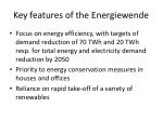 key features of the energiewende