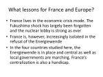 what lessons for france and europe