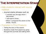 the interpretation stage1