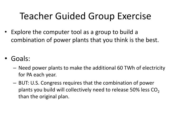 Teacher Guided Group Exercise