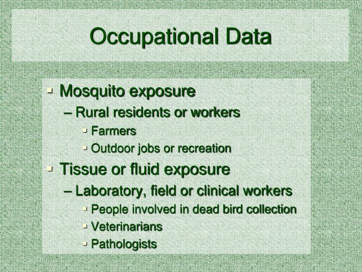 Occupational Data