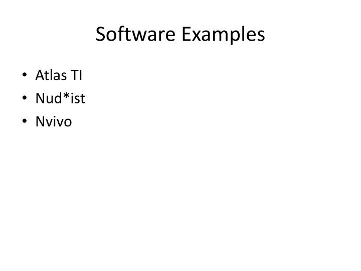 Software Examples