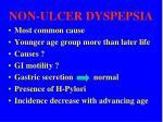 non ulcer dyspepsia