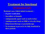 treatment for functional dyspepsia cont