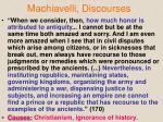 machiavelli discourses