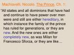 machiavelli niccolo the prince ch 1