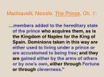 machiavelli niccolo the prince ch 11