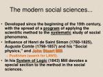 the modern social sciences