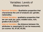 variables levels of measurement