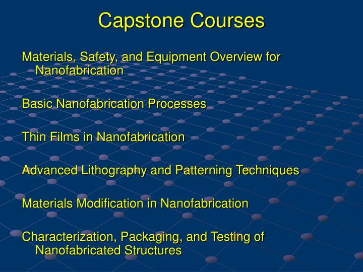Capstone Courses