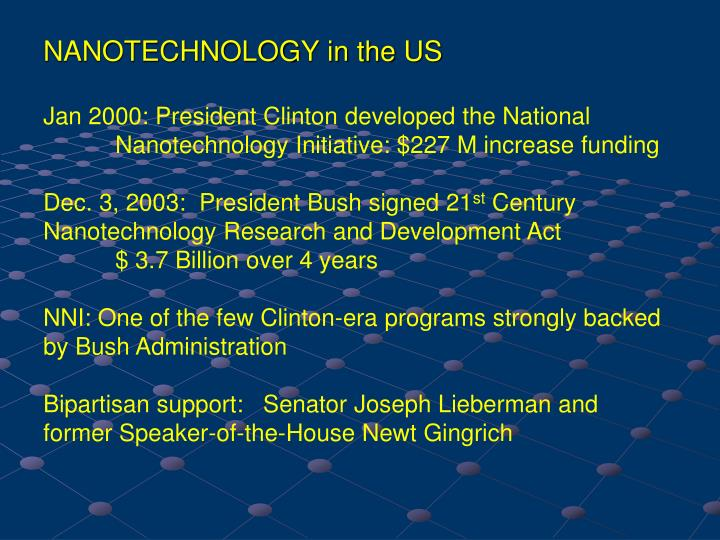 NANOTECHNOLOGY in the US