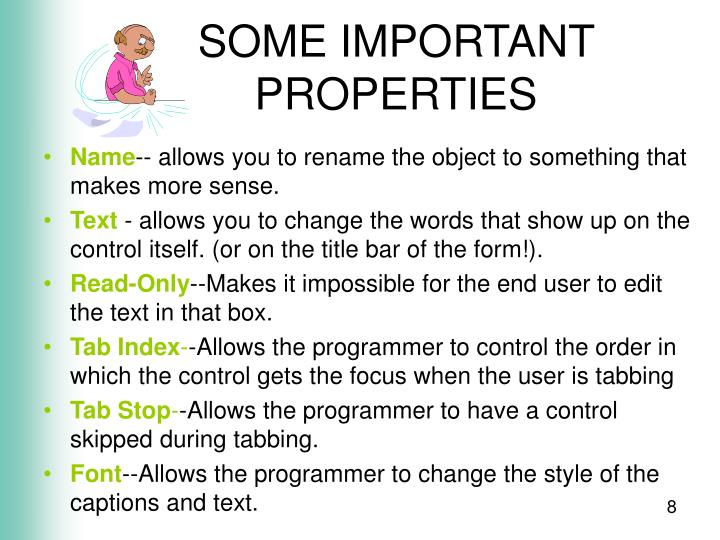 SOME IMPORTANT PROPERTIES