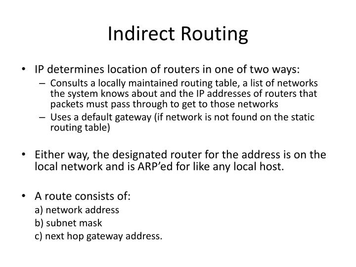 Indirect Routing