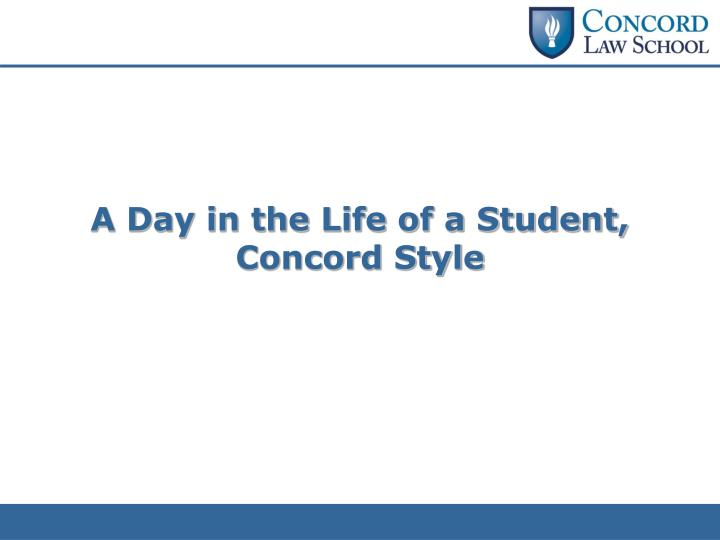 A Day in the Life of a Student,