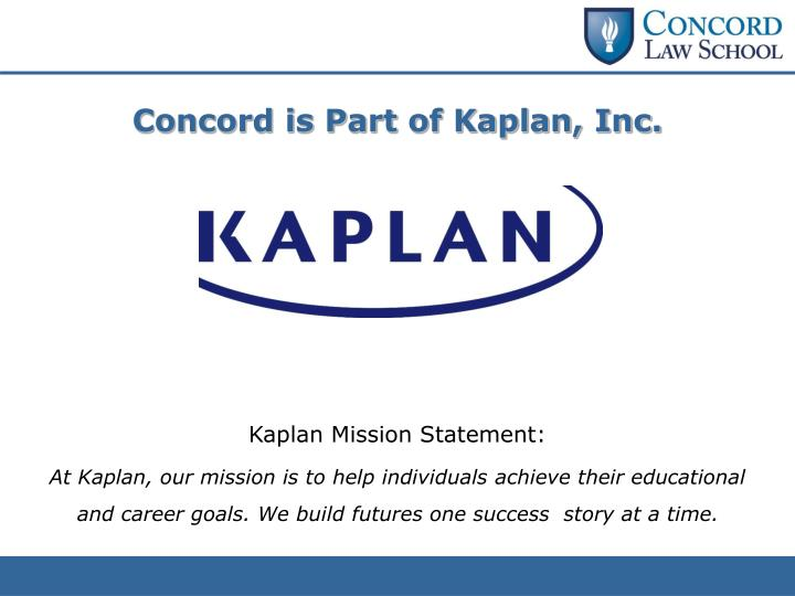 Concord is Part of Kaplan, Inc.