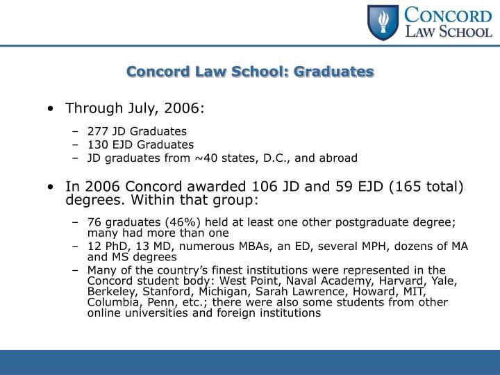 Concord Law School: Graduates