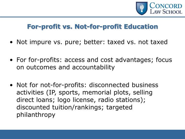 For-profit vs. Not-for-profit Education