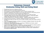 outcomes concord graduates doing well and doing good