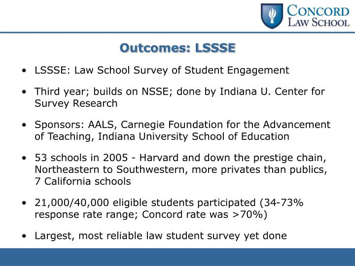 Outcomes: LSSSE